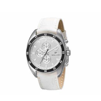 Emporio Armani White Leather Chrono Men's Watch – AR5915