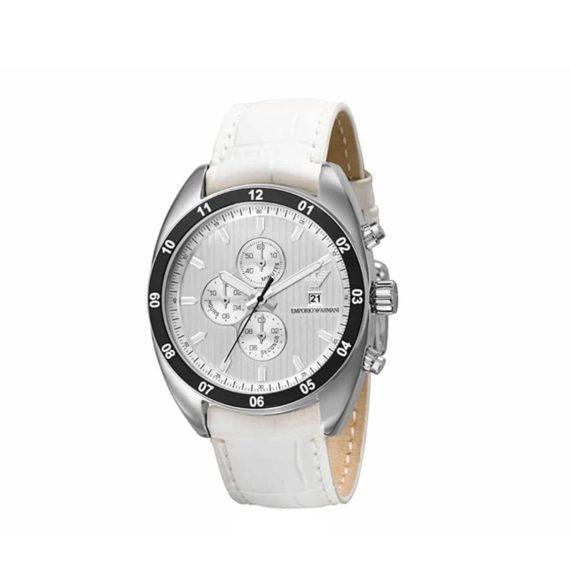 Ar 5915 Emporio Armani White Leather Chrono