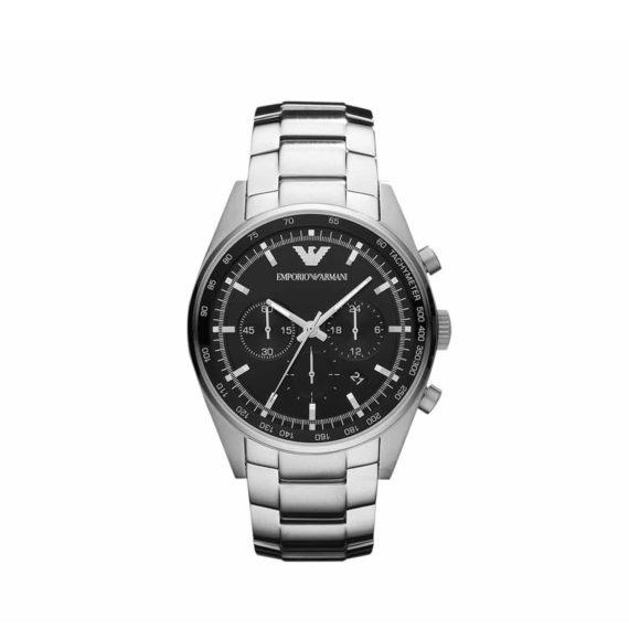 Ar 5980 Emporio Armani Stainless Steel Chronograph Black Case