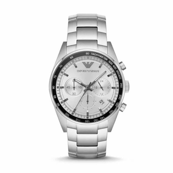 AR 6095 Emporio Armani Chronograph Silver Dial Men's Watch