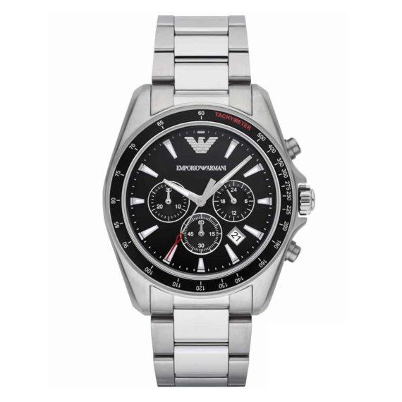AR 6098 Emporio Armani Sigma Black Dial Chronograph Men's Watch