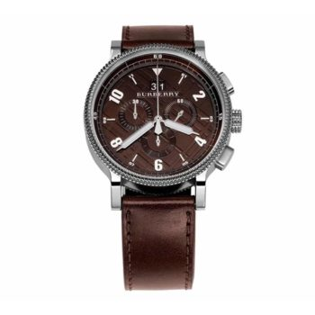 Bu7684 Burberry Silver Brown Strap 1