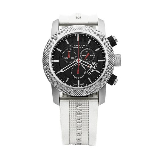 Bu7707 Burberry Endurance White Rubber Chronograph 1