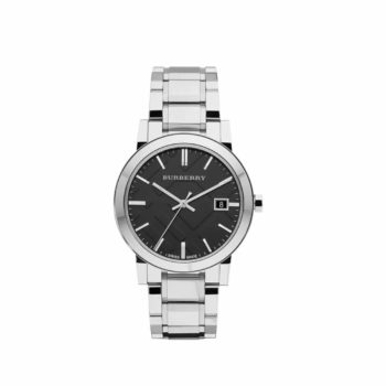 Bu9001 Burberry Black Dial Stainless Steel
