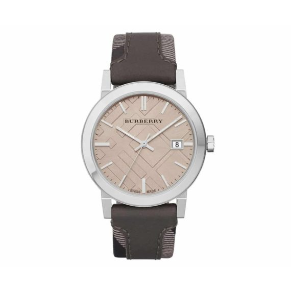 Bu9020 Burberry Brown Leather Strap 1