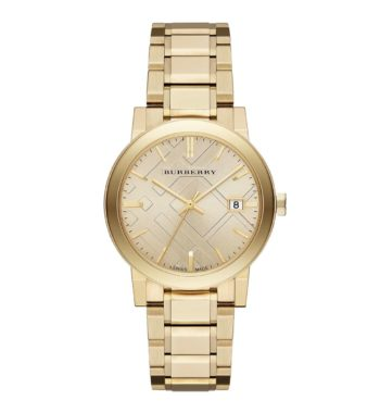 BU9033 Burberry The City Champagne Dial Gold Tone Unisex Watch