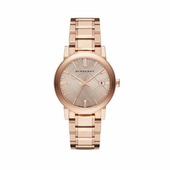 BU9034 Burberry Rose Dial Rose Gold Tone Ladies' Watch