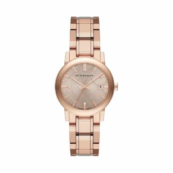Bu9135 Burberry The City Rose Dial Rose Gold Tone Ladies Watch E1554321778541