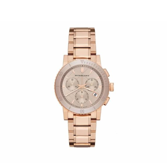 Bu9703 Burberry Rose Gold Stainless Steel Chronograph Bu9703