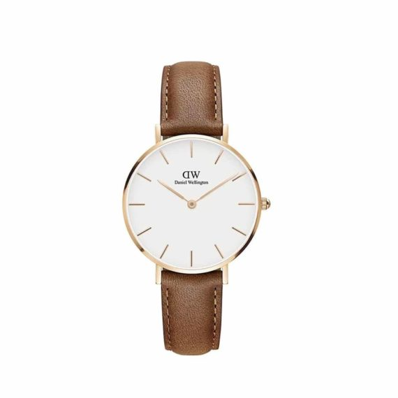 Dw00100172 Daniel Wellington Classic Petite Durham Brown Leather