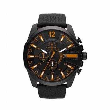 Dz4291 Diesel Gunmetal Analog Black Leather Strap Chronograph Gents Watch E1554320706918