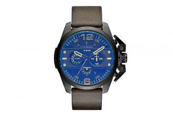 DZ4364 DieselIronside Chronograph Blue Dial Brown Leather Men's Watch