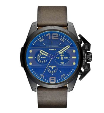 DZ4364 DieselIronside Chronograph Blue Dial Brown Leather Men's Watch