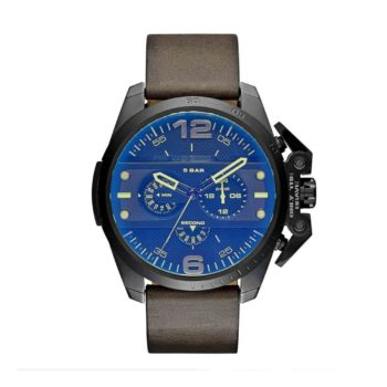 Dz4364 Dieselironside Chronograph Blue Dial Brown Leather Mens Watch E1554320633698
