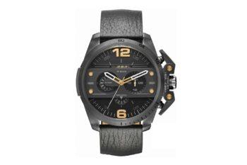 DZ4386 Diesel Ironside Black Leather Chronograph
