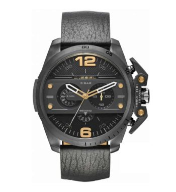 DZ4386 Diesel Ironside Black Leather Chronograph