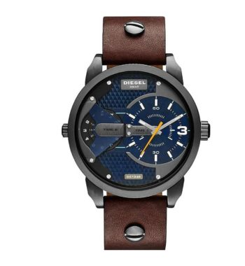 DZ7339 Diesel Mini Daddy Blue Textured Dial Quartz Men's Watch
