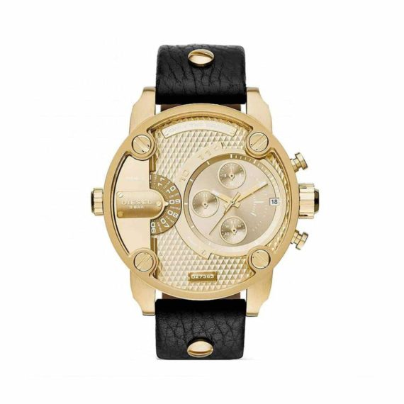 Dz7363 Diesel Champagne Dial Black Leather Mens Watch E1554320352511 (1)