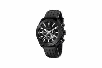 F16901 1 Festina Black Leather Strap Chronograph