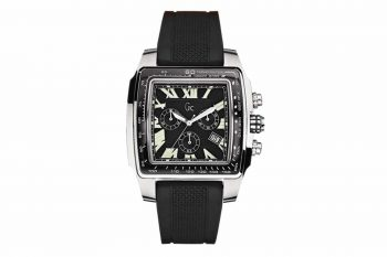 I30007G2 GC Guess Black Leather Watch Strap