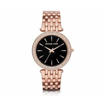 Michael Kors Darci Crystals Rose Gold Stainless Steel Bracelet Women's Watch – MK3402