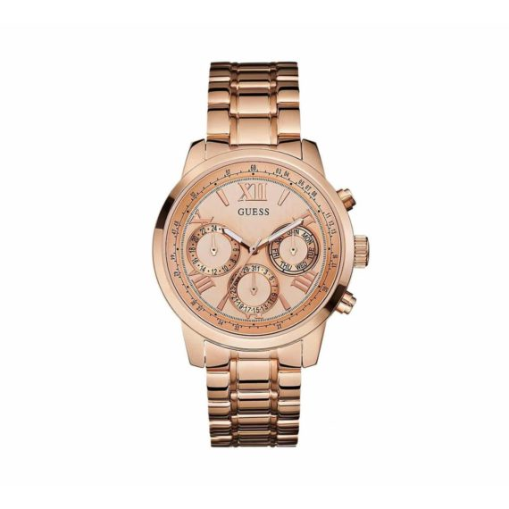 W0330l2 Guess Multi Function Rose Gold Stainless Steel Bracelet