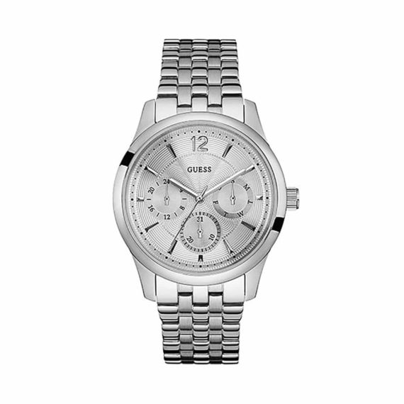 W0474g3 Guess Mens Multi Function Dial Stainless Steel Case And Bracelet