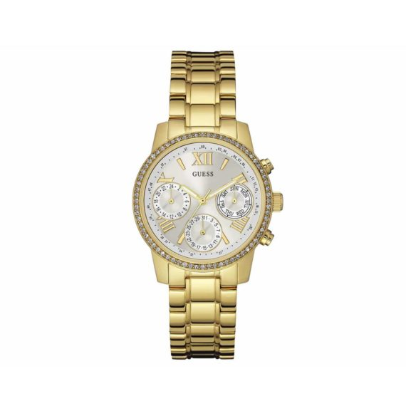 W0623l3 Guess Crystals Multi Function Gold Stainless Steel Bracelet