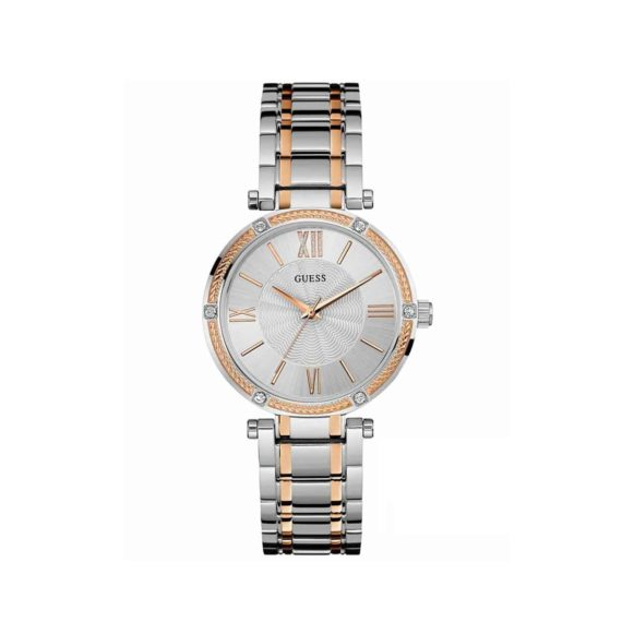 W0636l1 Guess Crystals Two Tone Stainless Steel Bracelet