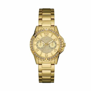 W0705l2 Guess Crystal Multi Function Gold Stainless Steel Bracelet