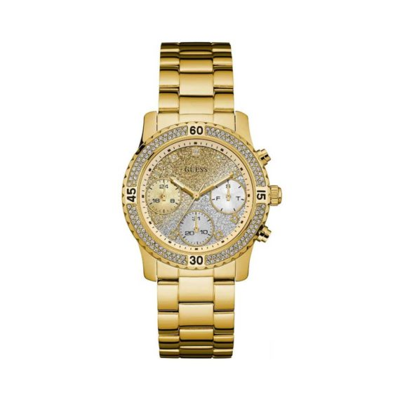 W0774l5 Guess Crystals Multi Function Gold Stainless Steel Bracelet Gold