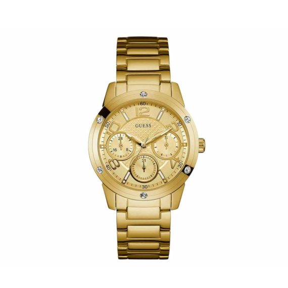 W0778l2 Guess Crystals Multi Function Gold Stainless Steel Bracelet