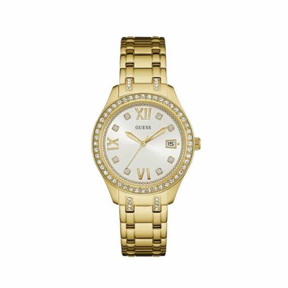 W0848L2 Guess Analogue White Dial Women's Watch