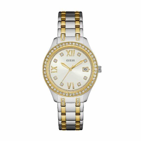 W0848L4 Guess Analogue White Dial Women's Watch