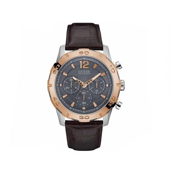 W0864g1 Guess Brown Leather Chronograph