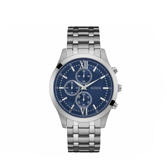 W0875g1 Guess Chrono Silver Case With Stainless Steel Bracelet