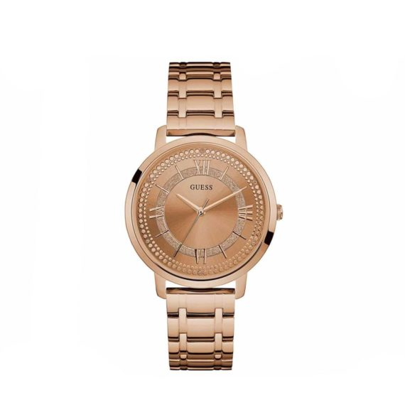 W0933l3 Guess Iconic Three Hands Rose Gold Stainless Steel Bracelet