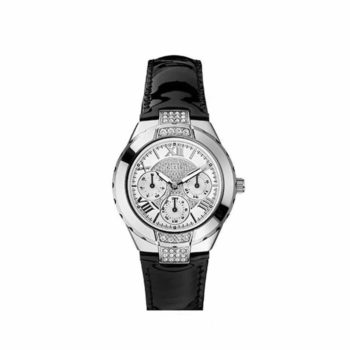 W10226l1 Guess Black Leather Strap
