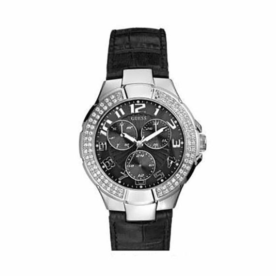 W11008l2 Guess Multi Function Black Leather 1