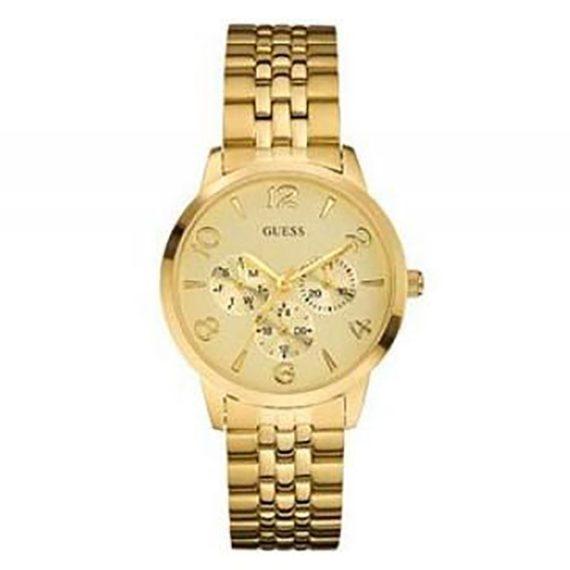 W11161L1 Guess Ladies' Thin Mint Gold Tone Watch