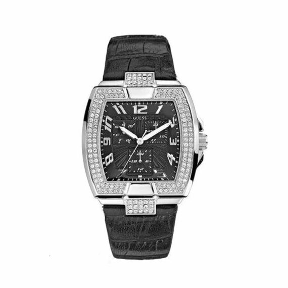 W14515l1 Guess Ladies Multi Function Stainless Steel Leather Strap