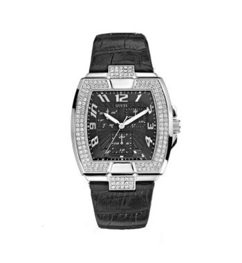 W14515L1 Guess Ladies' Multi Function Stainless Steel Leather Strap