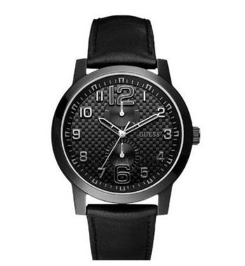 W95111G1 Guess Men's Lights Out Watch Black