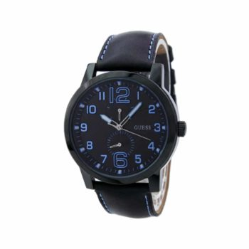 W95111g3 Guess Mens Lights Out Watch Black And Blue