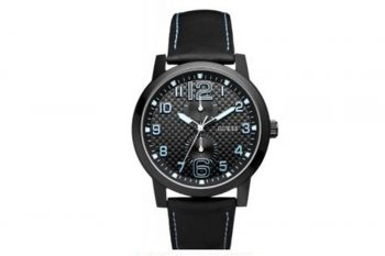 W95111G3 Guess Men's Lights Out Watch Black And Blue