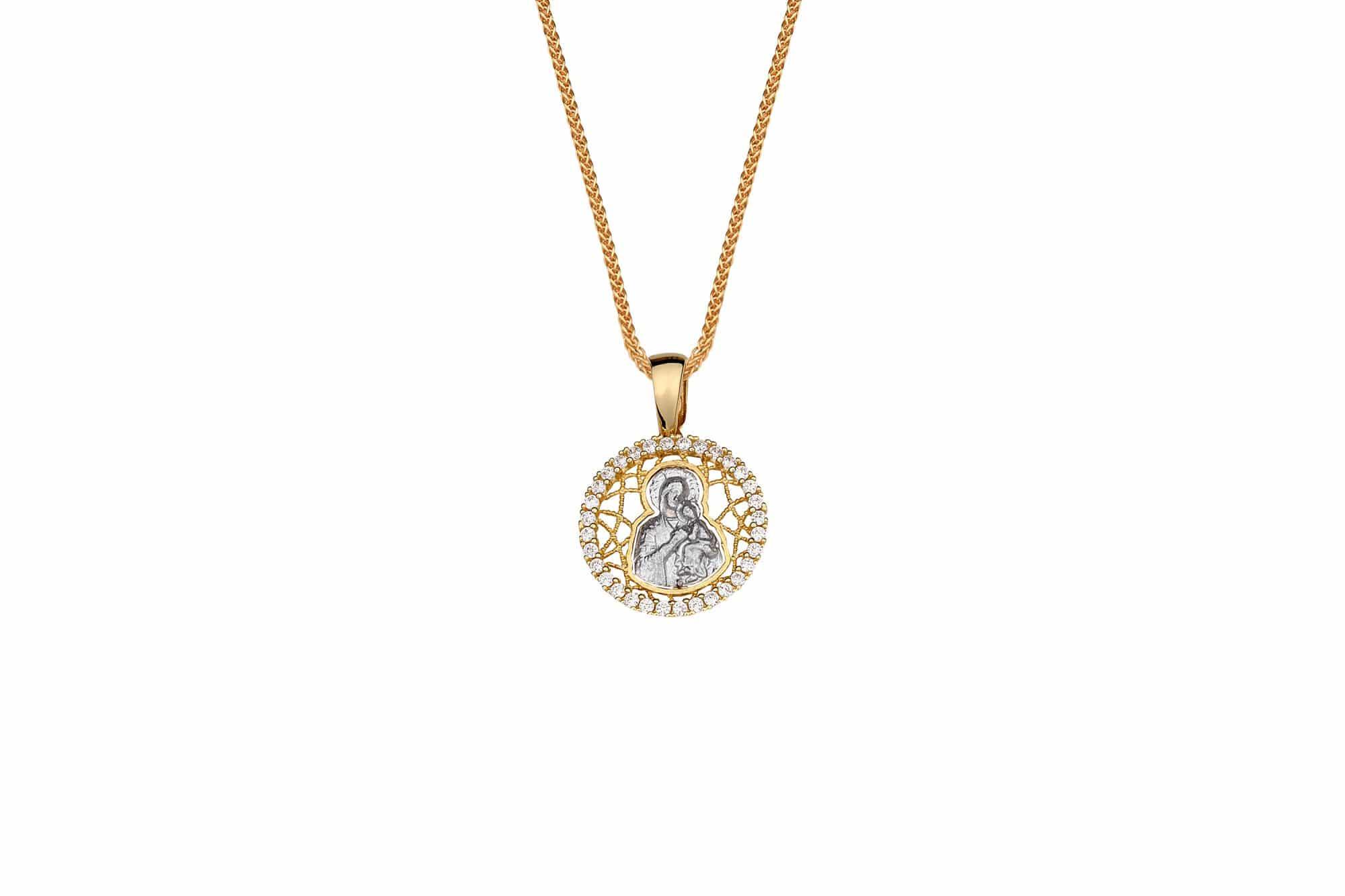 Φυλαχτό Παναγία Με Ζιργκόν Χρυσός – Jewelor 015a088be89
