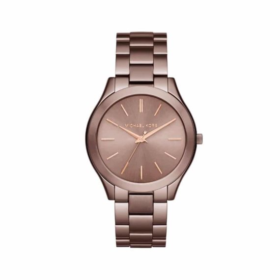 Michael Kors Slim Runway Brown Watch ΜK3418