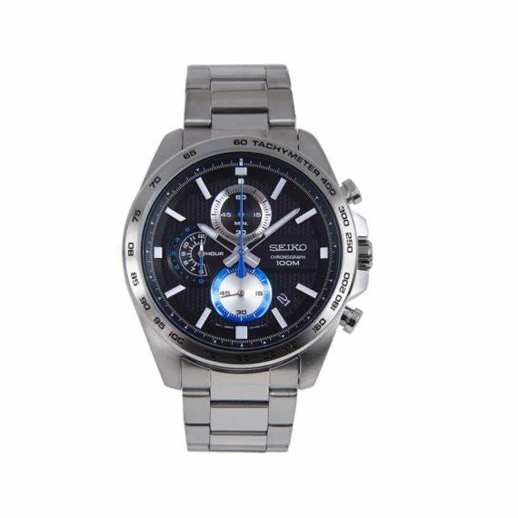 Seiko Chronograph Stainless Steel Black Ssb257p1