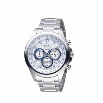Seiko Chronograph Stainless Steel Blue Ssb239p1 1