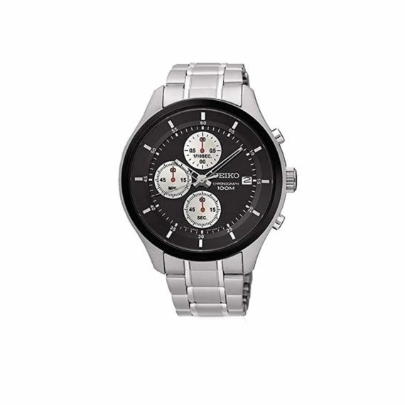 Seiko Neo Sports Chronograph Watch Black SKS545P1
